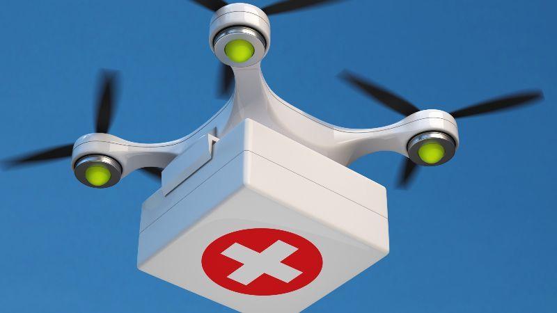 Medizininischer Transport mit Drohne