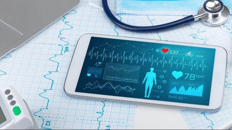 Smartphone mit medizinische Daten